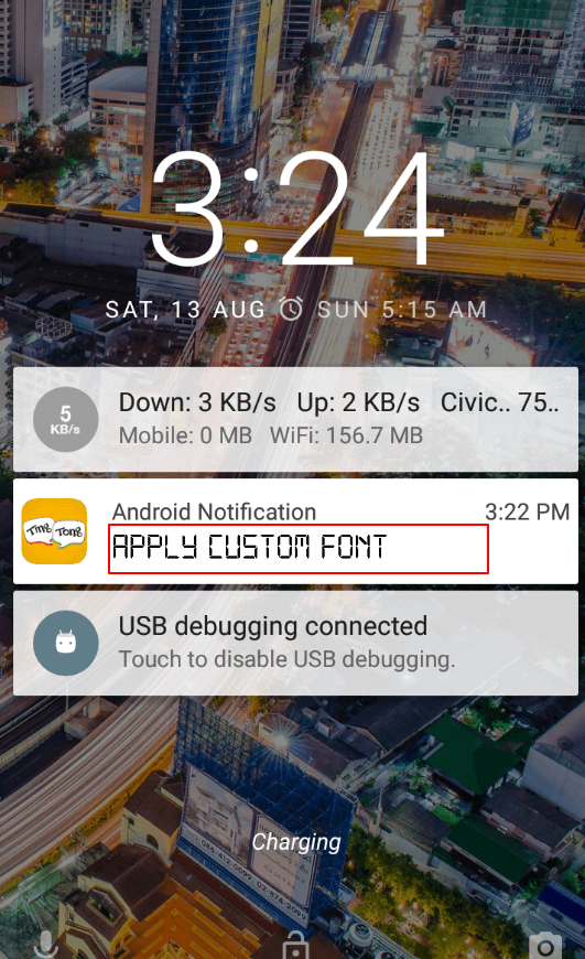 Apply Custom font in Notification Title