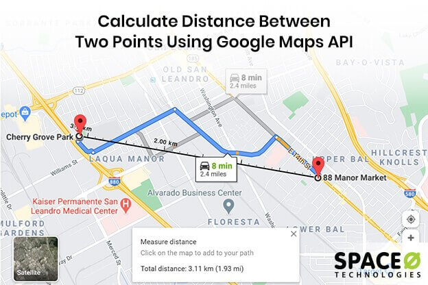 Calculate Distance Between Two Points [Google Maps API Android