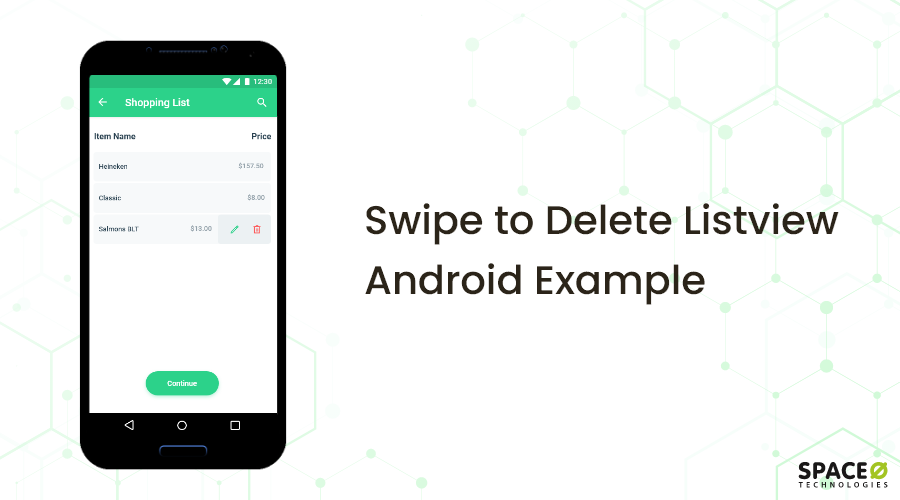 Swipe to Delete Listview Android Example
