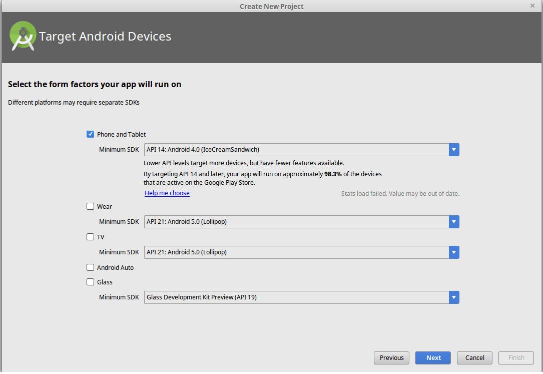 select Mini SDK Version
