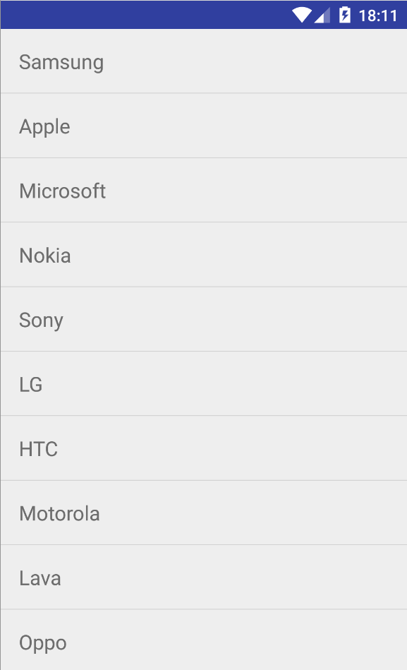 android listview Example 1