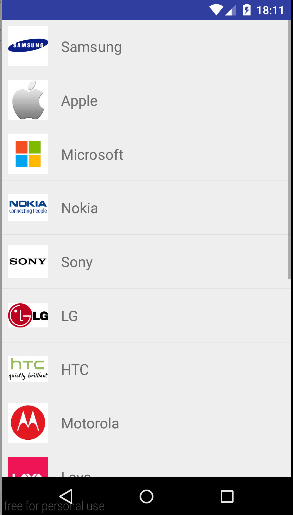 android listview Example 2
