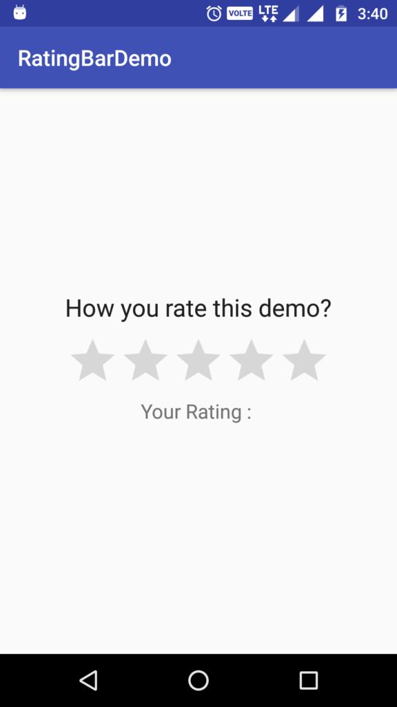rating bar demo