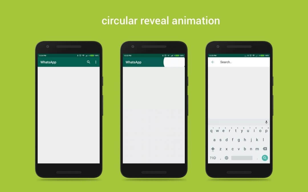 Implement Custom Circular Reveal Animation in Android