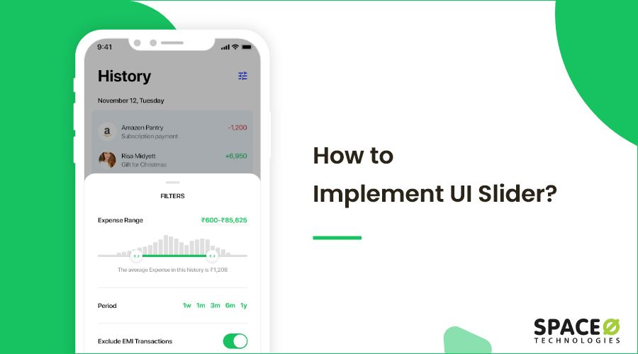 How to implement UI slider