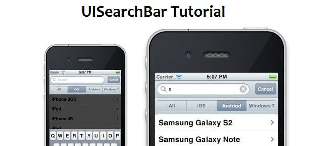 ImplementUIsearchbar in iphone