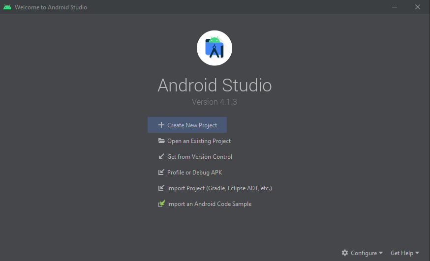 1_create new android project