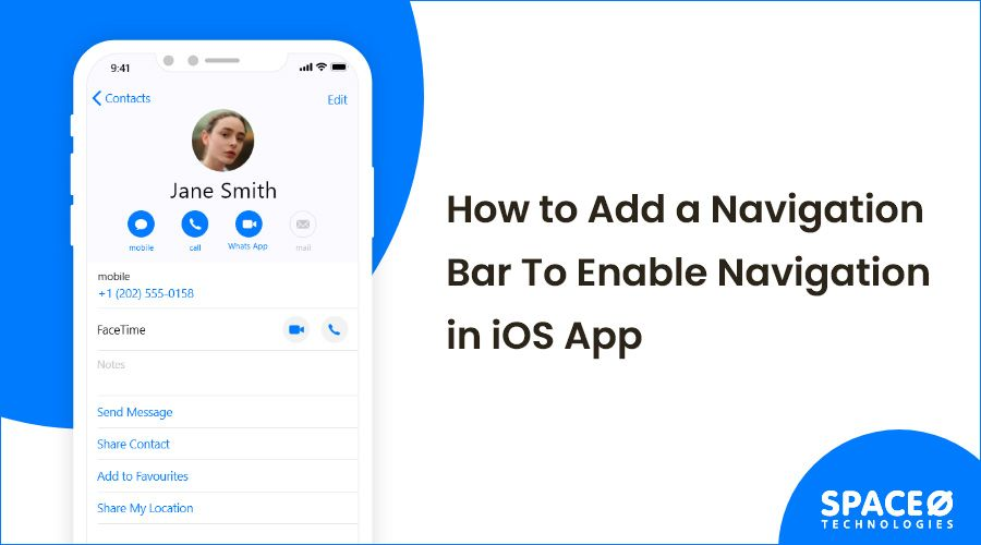 How to add navigation bar in iOS app