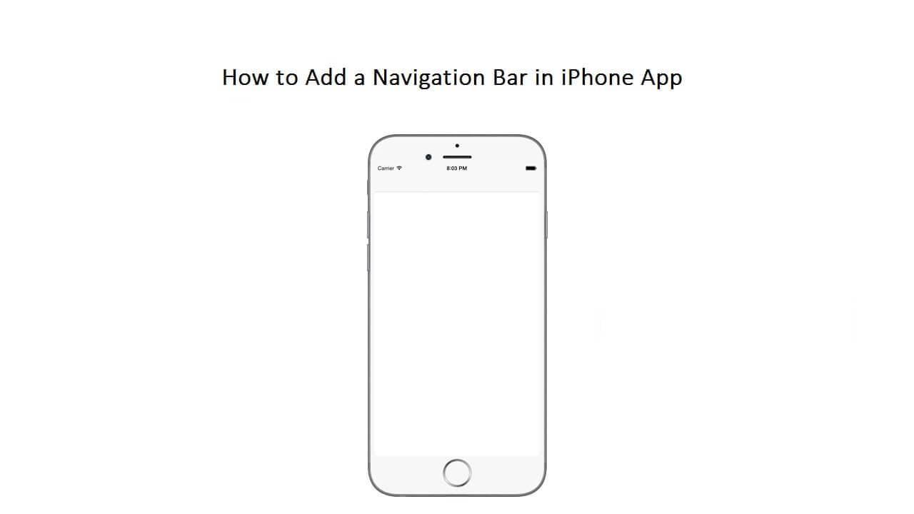 add navigation bar in ios