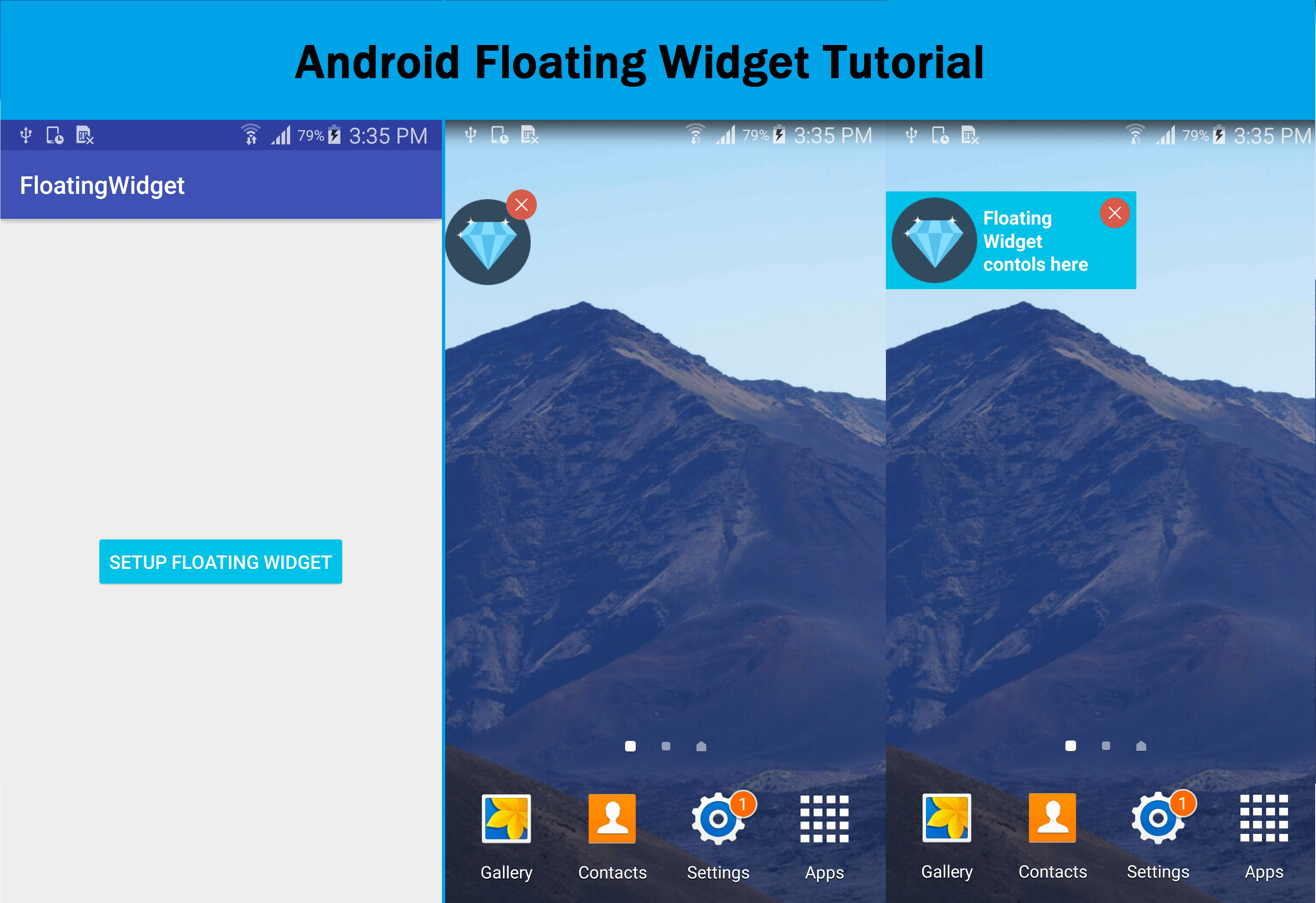 android floating widget tutorial