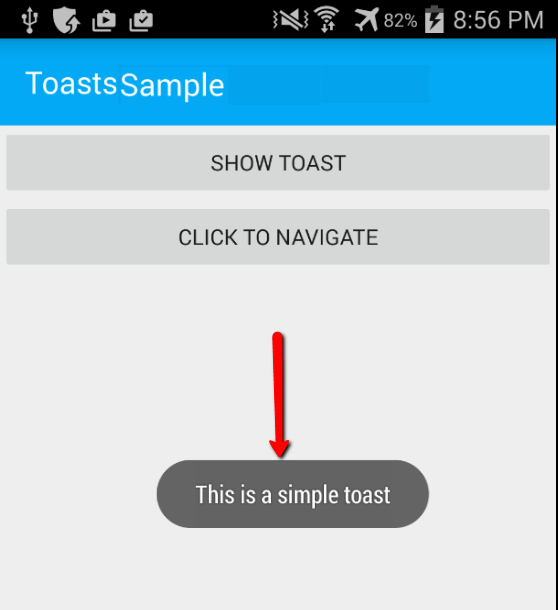 toast sample