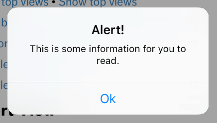 ios pop up alert message
