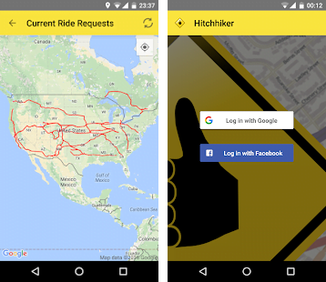 hitchhiker carpooling app