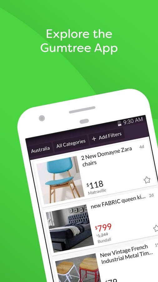 purchasing from gumtree app