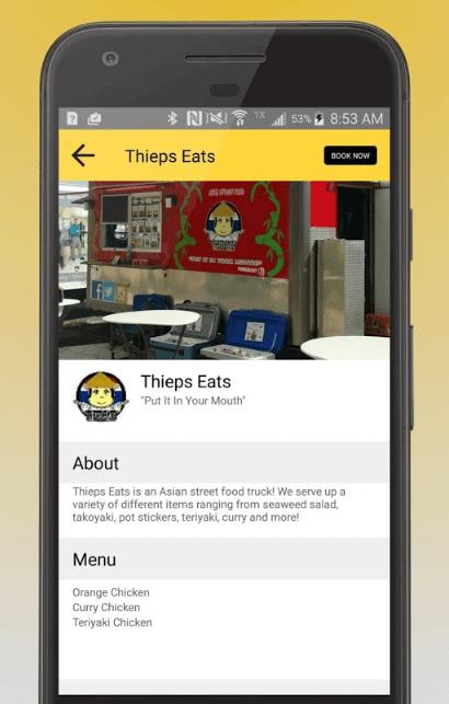 Food Truck Finder Mobile App