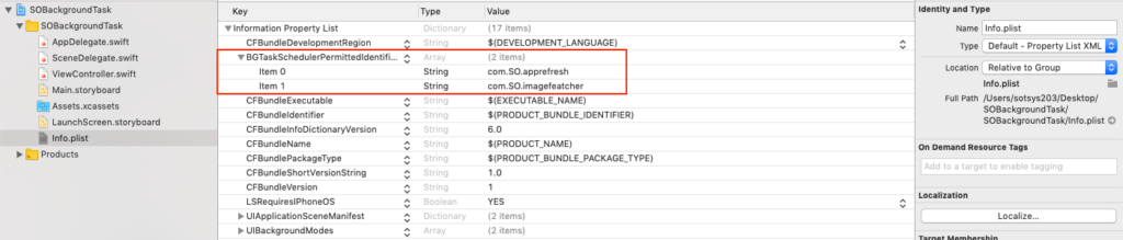 add task identifier