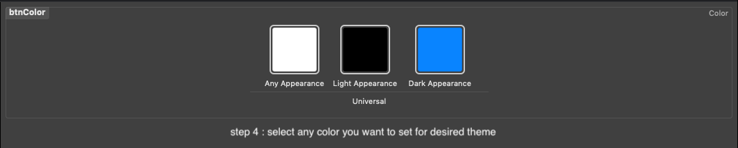 select color and desired theme
