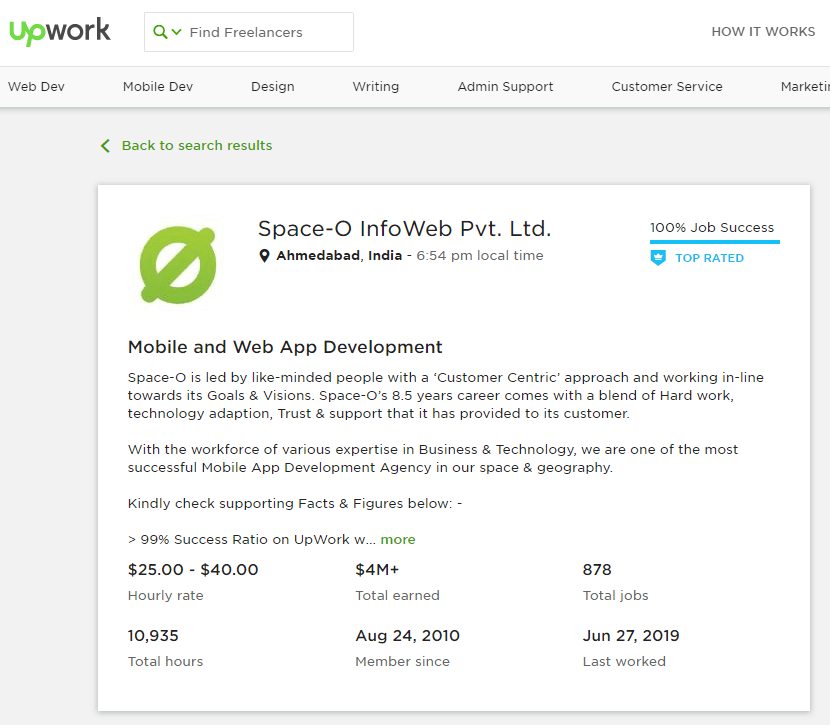 Hire Mobile App Developer from Upwork