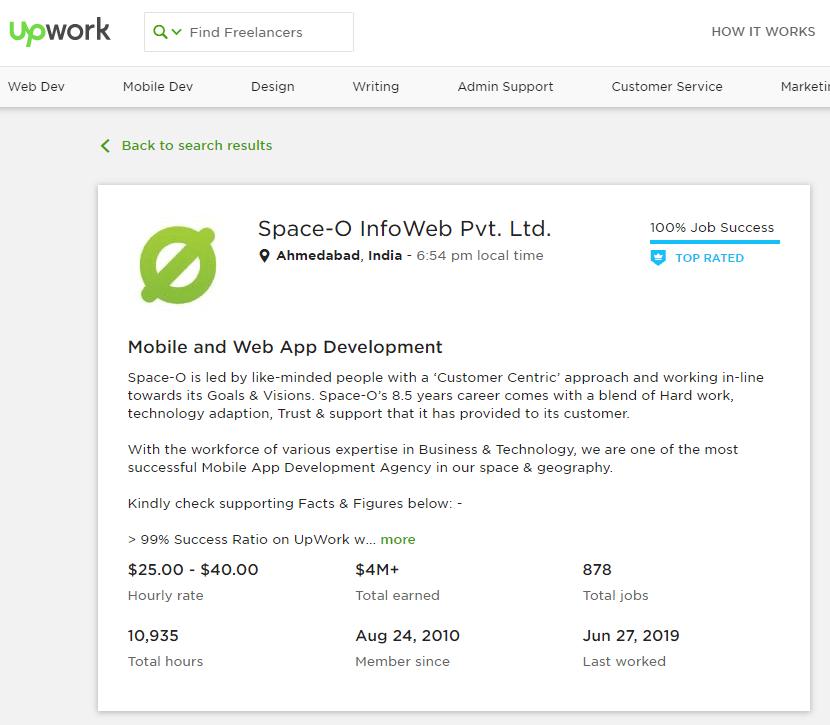 Hire Mobile App Developer from Upwork