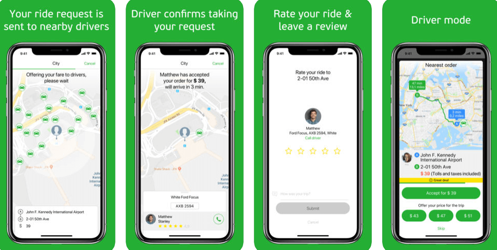 ride hailing app