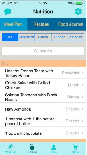 health and fitness app development
