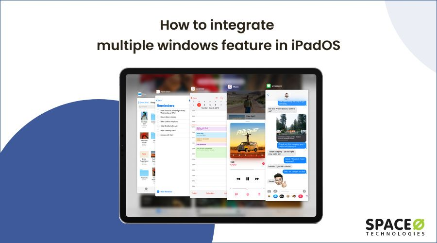 How to integrate multiple windows feature in iPadOS