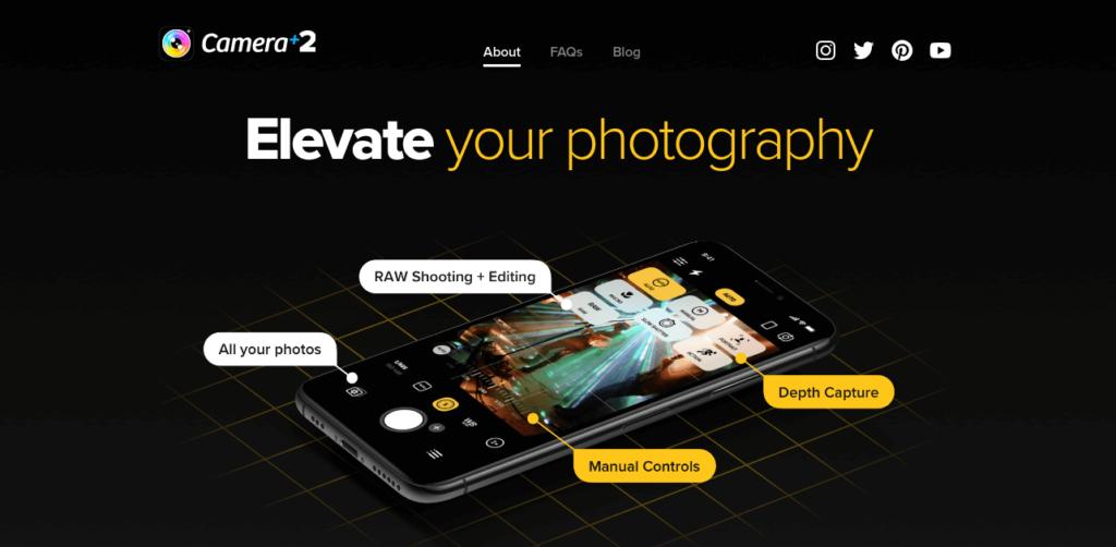 Camera+2-app-landing-page