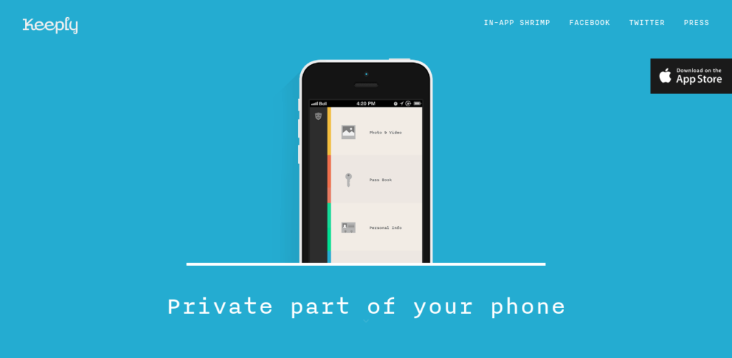 Keeply-app-landing-page