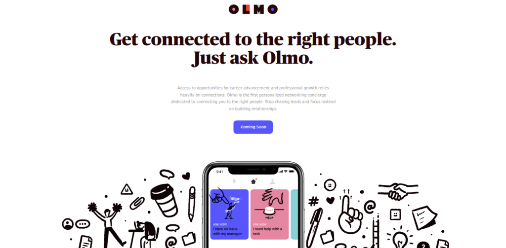 Olmo-app-landing-page