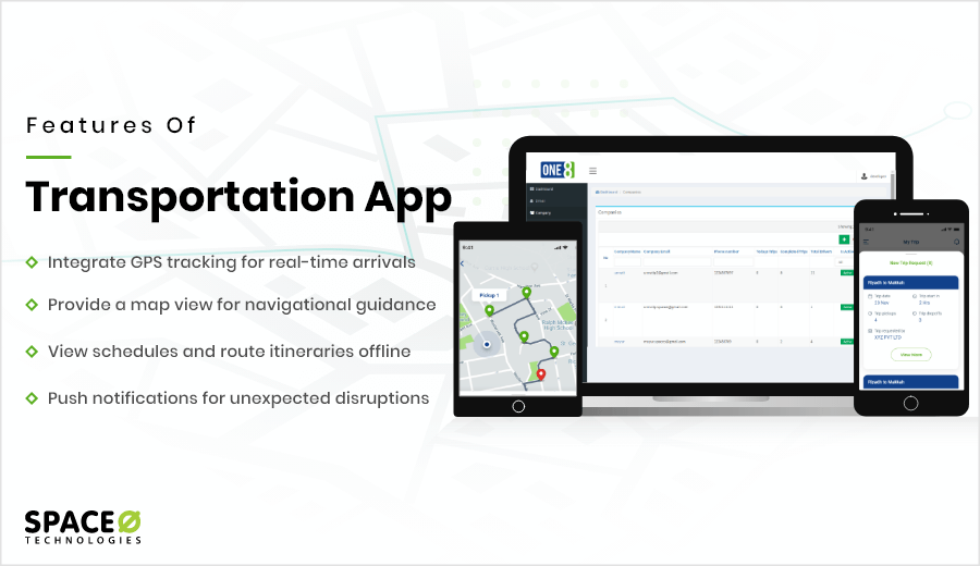 Features of Transport App Development