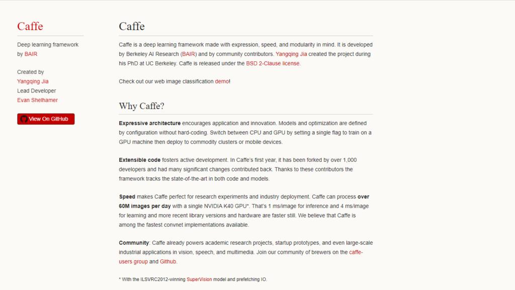 Caffe work frame