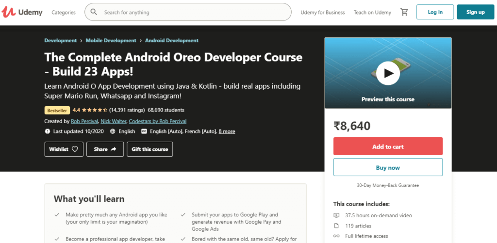 The Complete Android Oreo Developer Course