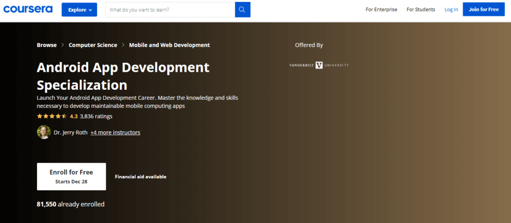 Coursera – Android App Development Specialization