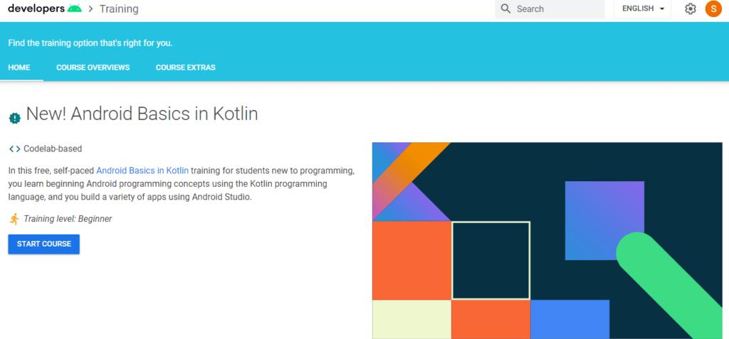 Google Developers Training – New! Android Basics in Kotlin