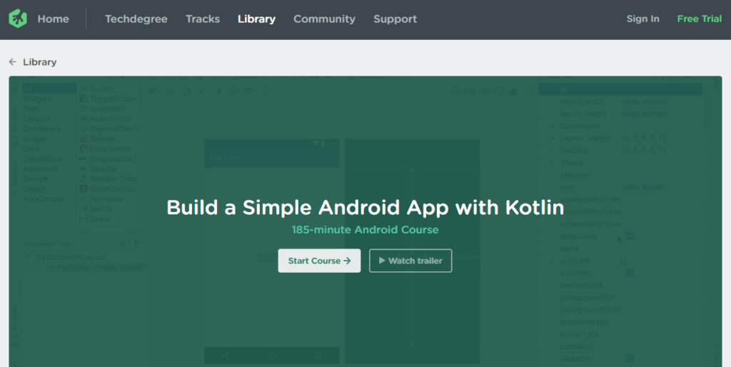 Team Treehouse – Build a Simple Android App with Kotlin