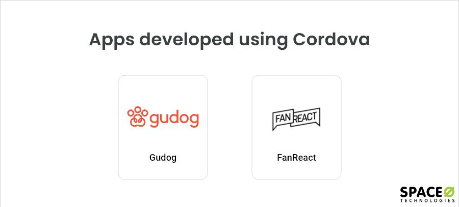 Apps developed using Cordova