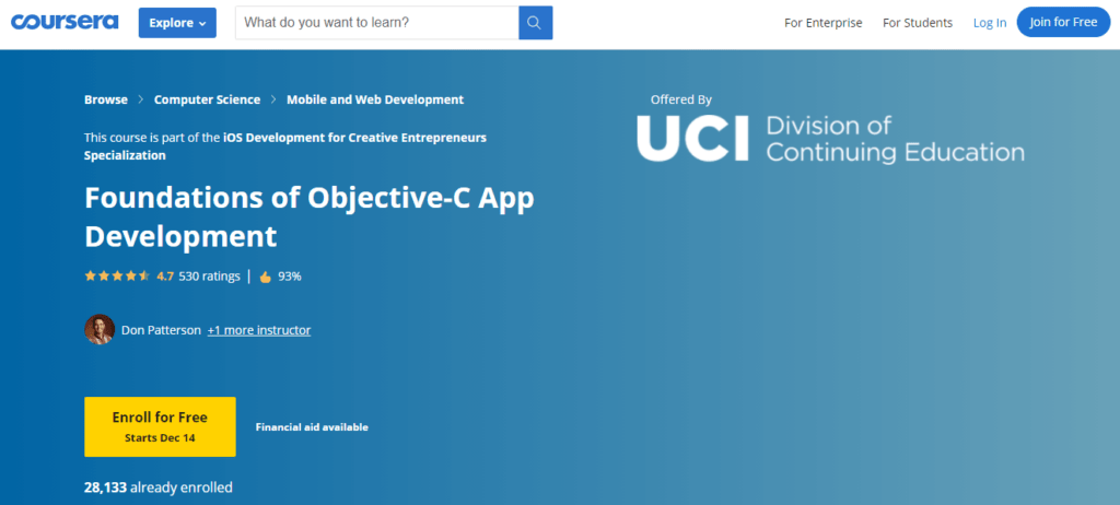 Coursera for Objective C