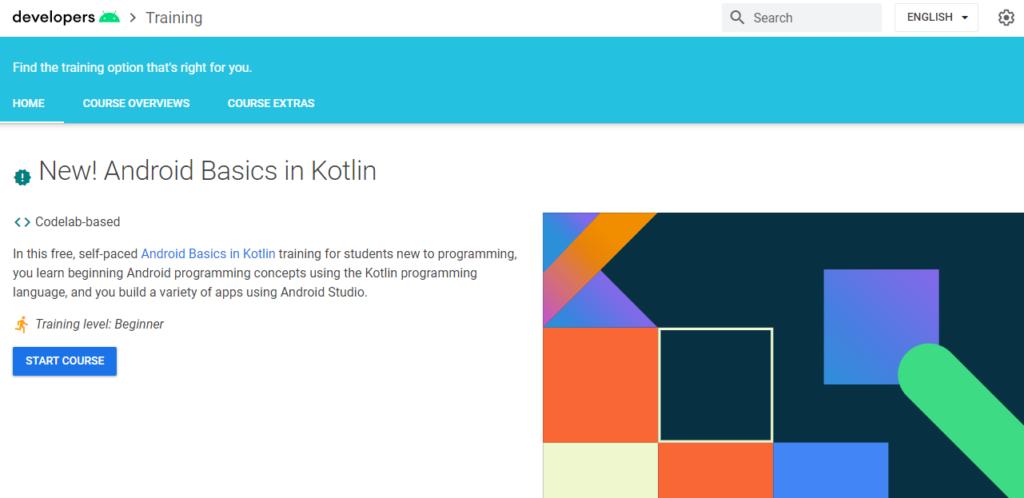 Google Developers Training Android Basics in Kotlin