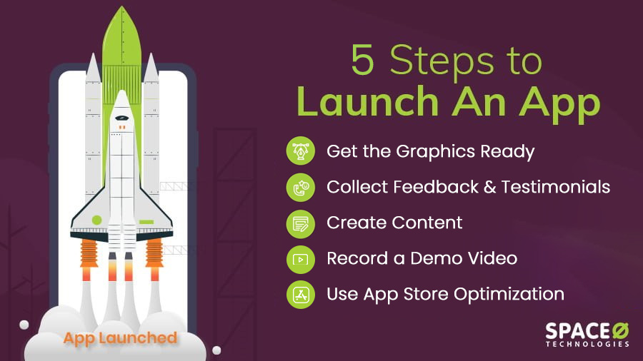 Steps to launch an app