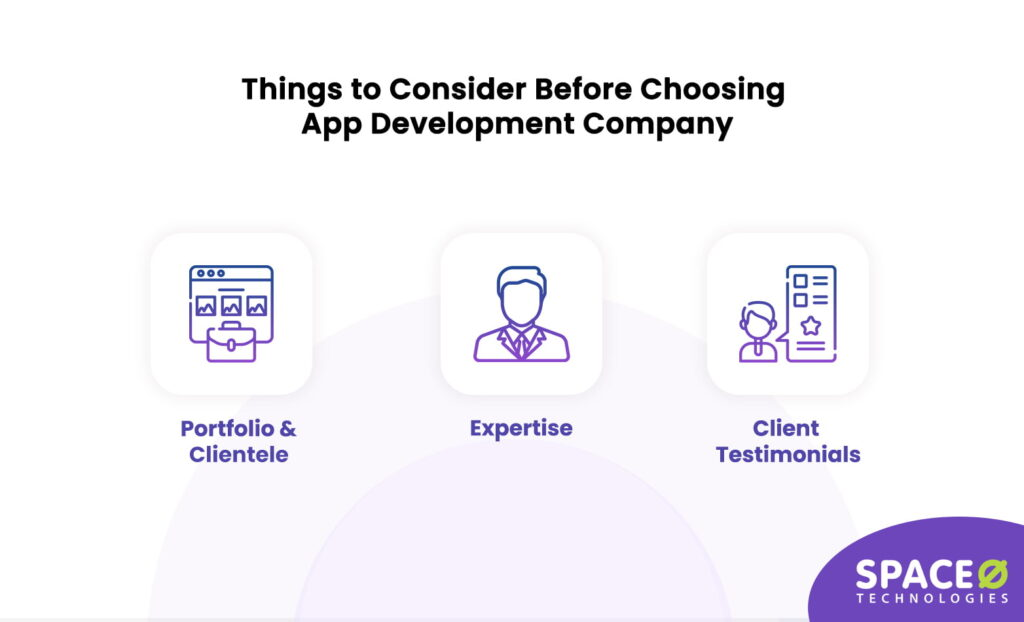 things to consider while choosing app development company
