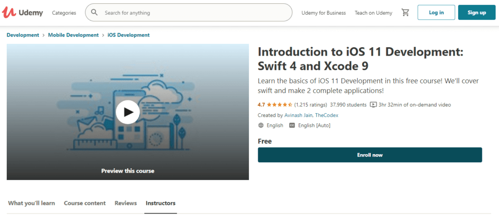 Udemy - Introduction to iOS 11 Development Swift 4 and Xcode 9