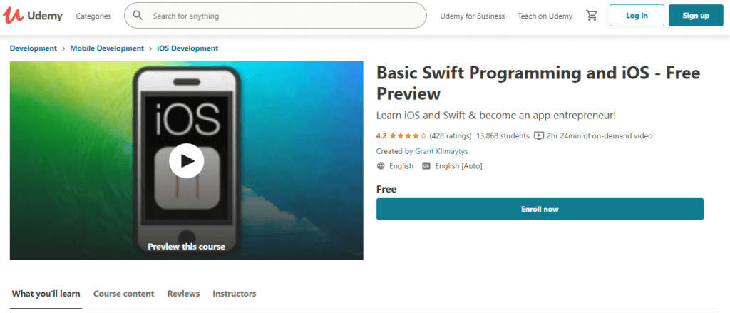 Udemy - Basic Swift Programming and iOS
