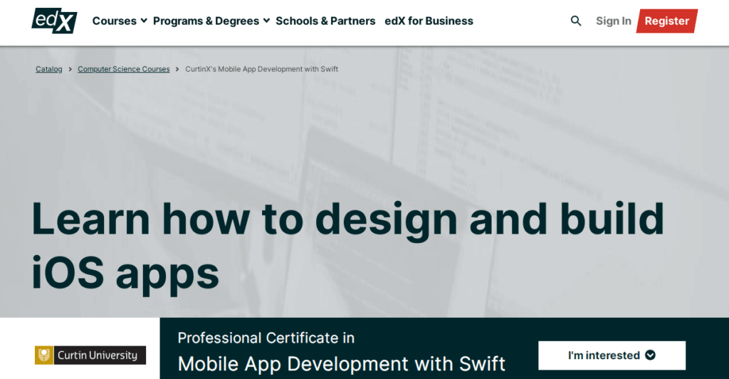 edX - Learn How to Design and Build iOS Apps