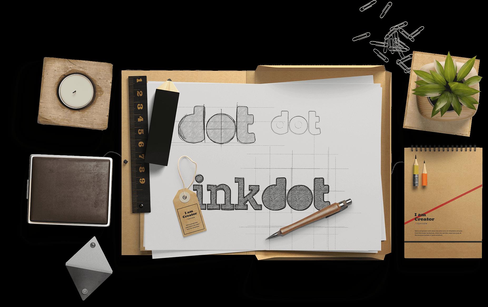 Inkdot app icon design