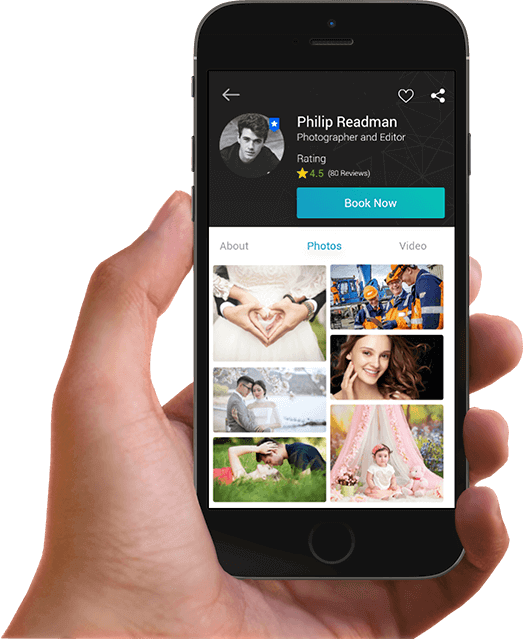 Photographer booking app