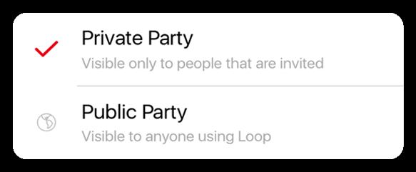 Loop app features