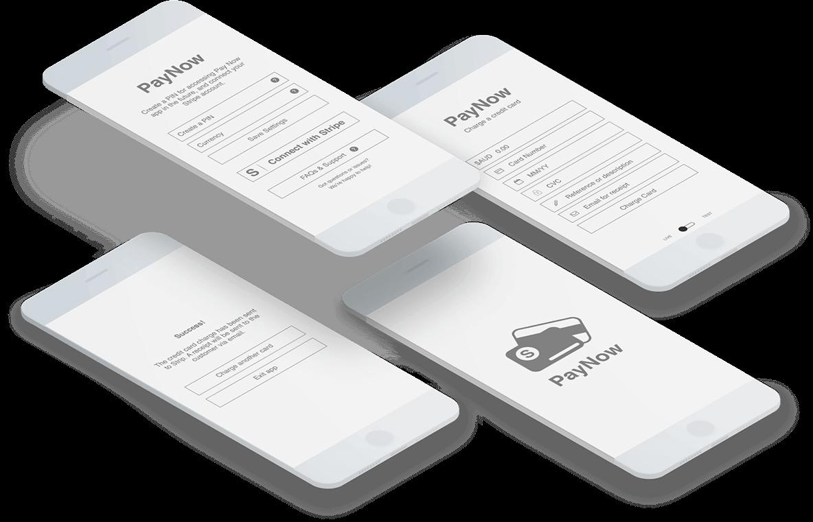 Paynow app wireframing