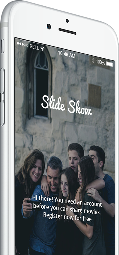 Slide.show make.r app banner