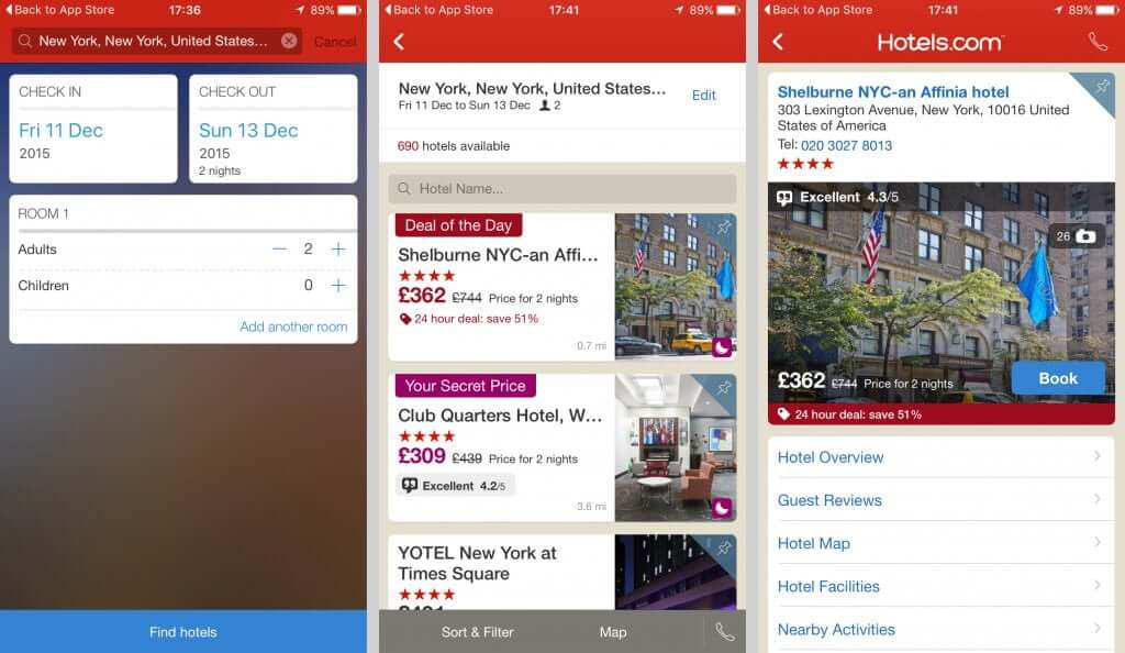 Hotel Room Booking Apps With Hybrid Approach
