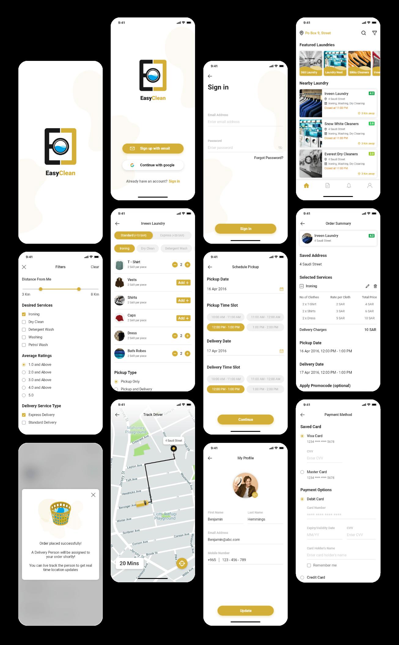 easy clean app screen